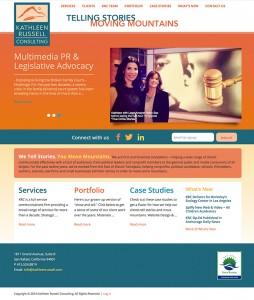 Kathleen Russell Consulting custom WordPress Website