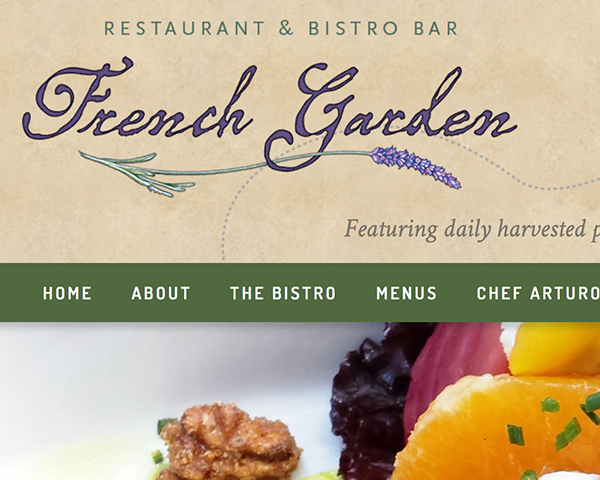 French Garden Restaurant website
