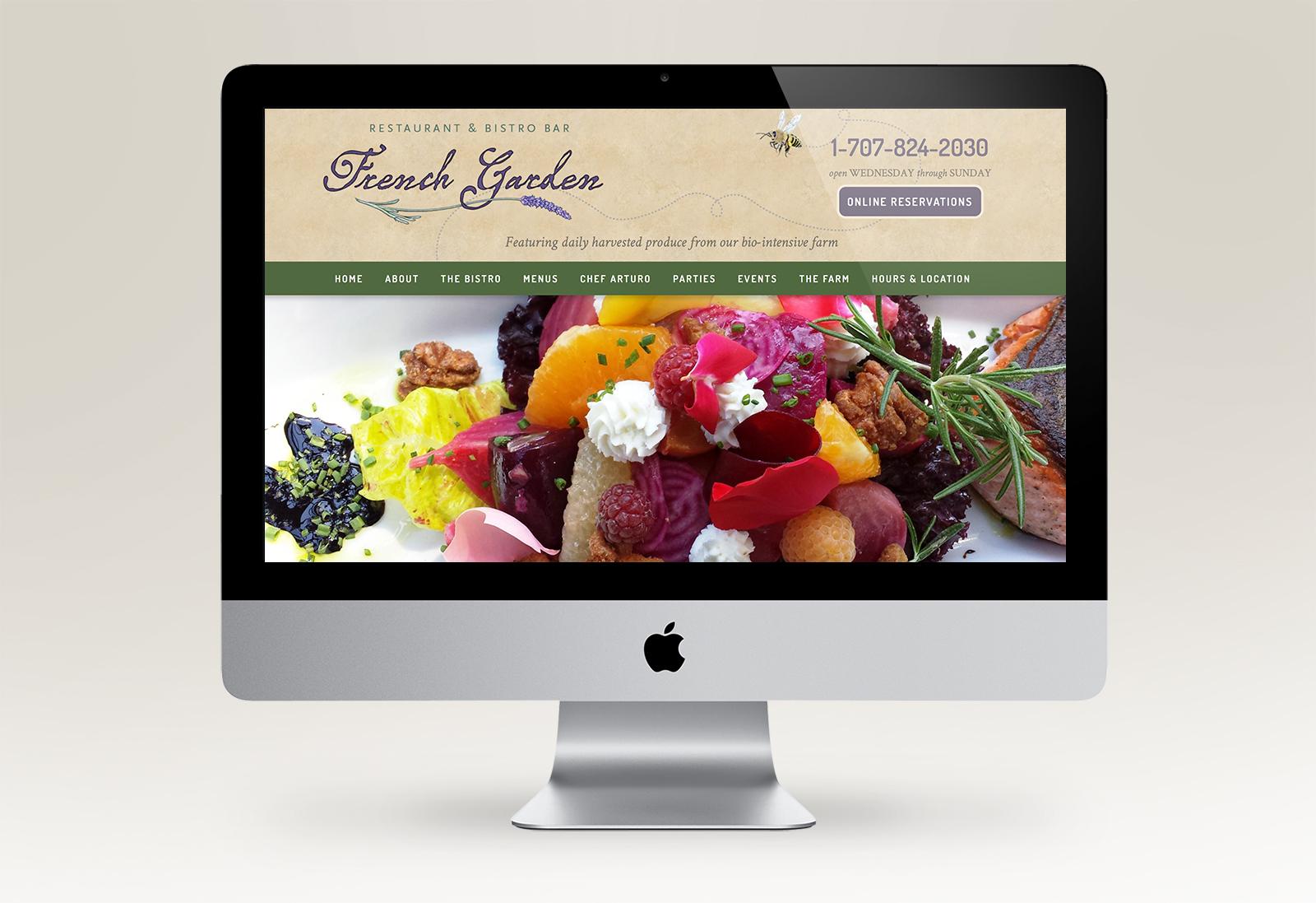 French Garden Restaurant website