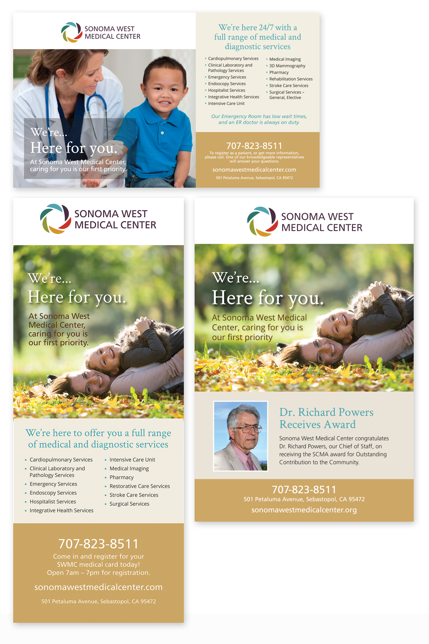 Sonoma West Medical Center ads & banners